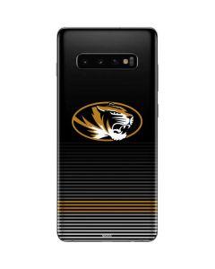 University of Missouri Striped Galaxy S10 Plus Skin