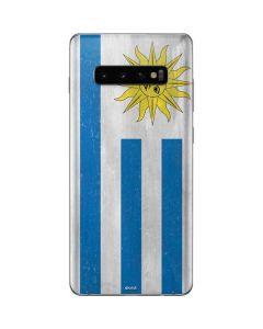 Uraguay Flag Distressed Galaxy S10 Plus Skin