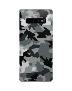 Urban Camouflage Black Galaxy S10 Plus Skin