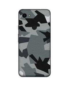 Urban Camouflage Black Google Pixel 3a Skin