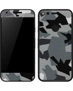 Urban Camouflage Black Google Pixel Skin