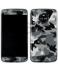 Urban Camouflage Black Moto X4 Skin