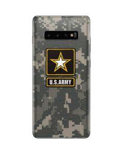 US Army Logo on Digital Camo Galaxy S10 Plus Skin