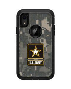 US Army Logo on Digital Camo Otterbox Defender iPhone Skin