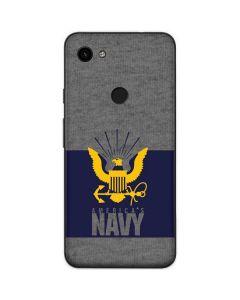 US Navy Grey Google Pixel 3a Skin