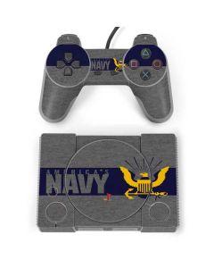 US Navy Grey PlayStation Classic Bundle Skin