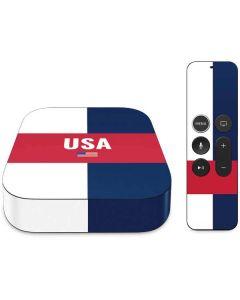 USA Flag Color Block Apple TV Skin