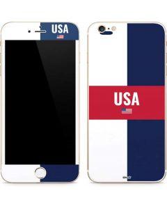 USA Flag Color Block iPhone 6/6s Plus Skin