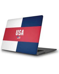 USA Flag Color Block Apple MacBook Pro Skin
