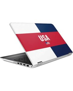 USA Flag Color Block HP Pavilion Skin