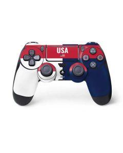 USA Flag Color Block PS4 Pro/Slim Controller Skin
