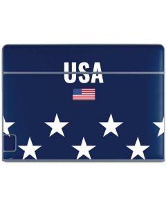 USA Flag Stars Galaxy Book Keyboard Folio 10.6in Skin