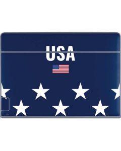 USA Flag Stars Galaxy Book Keyboard Folio 12in Skin