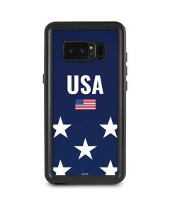 USA Flag Stars Galaxy Note 8 Waterproof Case