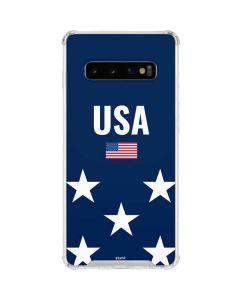 USA Flag Stars Galaxy S10 Clear Case