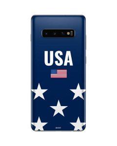 USA Flag Stars Galaxy S10 Plus Skin