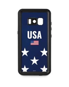 USA Flag Stars Galaxy S8 Plus Waterproof Case