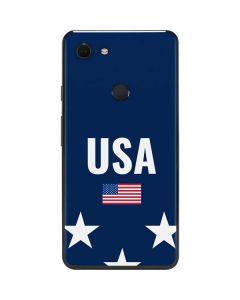 USA Flag Stars Google Pixel 3 XL Skin
