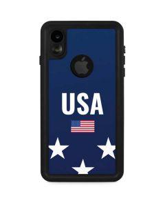 USA Flag Stars iPhone XR Waterproof Case