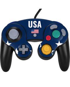 USA Flag Stars Nintendo GameCube Controller Skin
