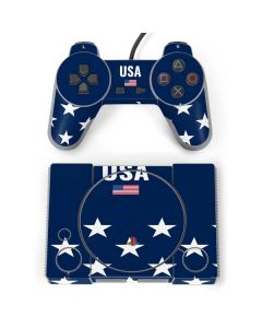 USA Flag Stars PlayStation Classic Bundle Skin