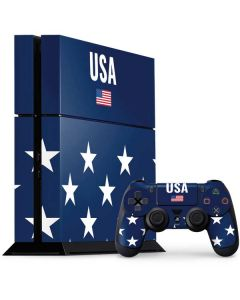 USA Flag Stars PS4 Console and Controller Bundle Skin