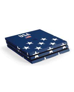USA Flag Stars PS4 Pro Console Skin