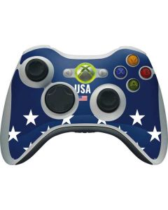 USA Flag Stars Xbox 360 Wireless Controller Skin