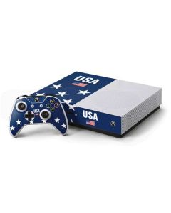 USA Flag Stars Xbox One S Console and Controller Bundle Skin