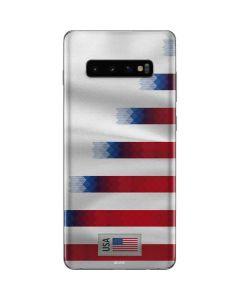 USA Soccer Flag Galaxy S10 Plus Skin