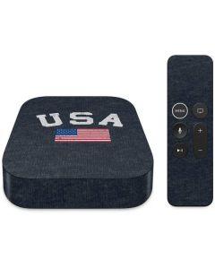 USA with American Flag Apple TV Skin