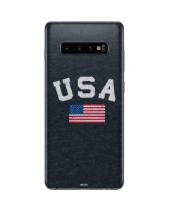 USA with American Flag Galaxy S10 Plus Skin