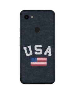 USA with American Flag Google Pixel 3a Skin