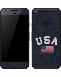 USA with American Flag Google Pixel Skin