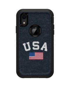 USA with American Flag Otterbox Defender iPhone Skin