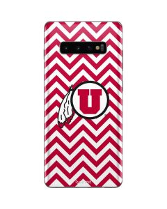 Utah Chevron Print Galaxy S10 Plus Skin