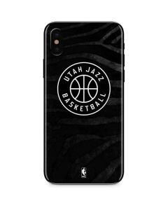 Utah Jazz Black Animal Print iPhone XS Max Skin