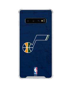 Utah Jazz Blue Texture Galaxy S10 Clear Case