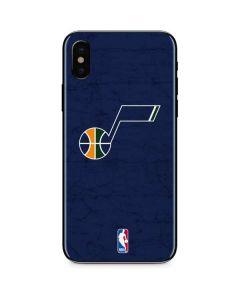 Utah Jazz Blue Texture iPhone X Skin