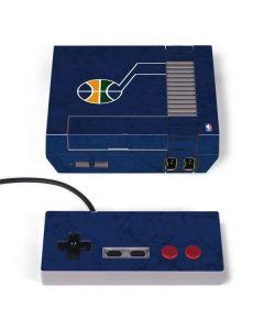Utah Jazz Blue Texture NES Classic Edition Skin