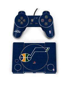 Utah Jazz Blue Texture PlayStation Classic Bundle Skin