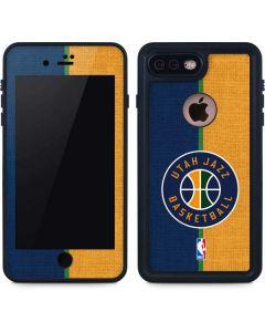 Utah Jazz Split Canvas iPhone 7 Plus Waterproof Case