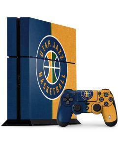 Utah Jazz Split Canvas PS4 Console and Controller Bundle Skin