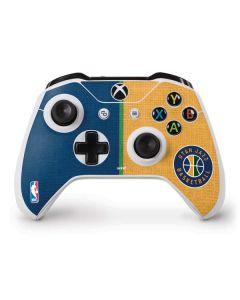 Utah Jazz Split Canvas Xbox One S Controller Skin