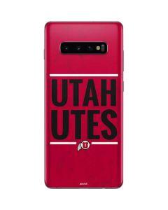 Utah Utes Bold Galaxy S10 Plus Skin