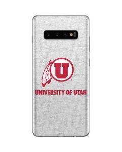 Utah Utes Distressed Galaxy S10 Plus Skin