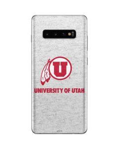 Utah Utes Distressed Galaxy S10 Plus Skin