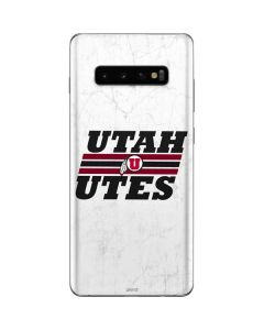Utah Utes Italicized Galaxy S10 Plus Skin