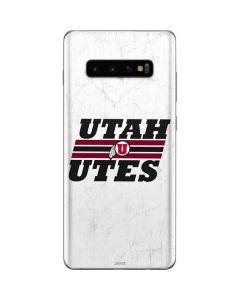 Utah Utes Italicized Galaxy S10 Plus Skin