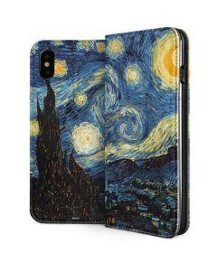 van Gogh - The Starry Night iPhone XS Folio Case